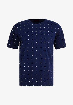 CLASSIC CREWNECK TEE - Triko spotiskem - dark blue