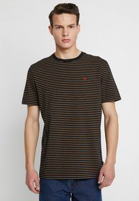 Scotch & Soda - CLASSIC CREWNECK TEE - T-shirt con stampa - black - 0