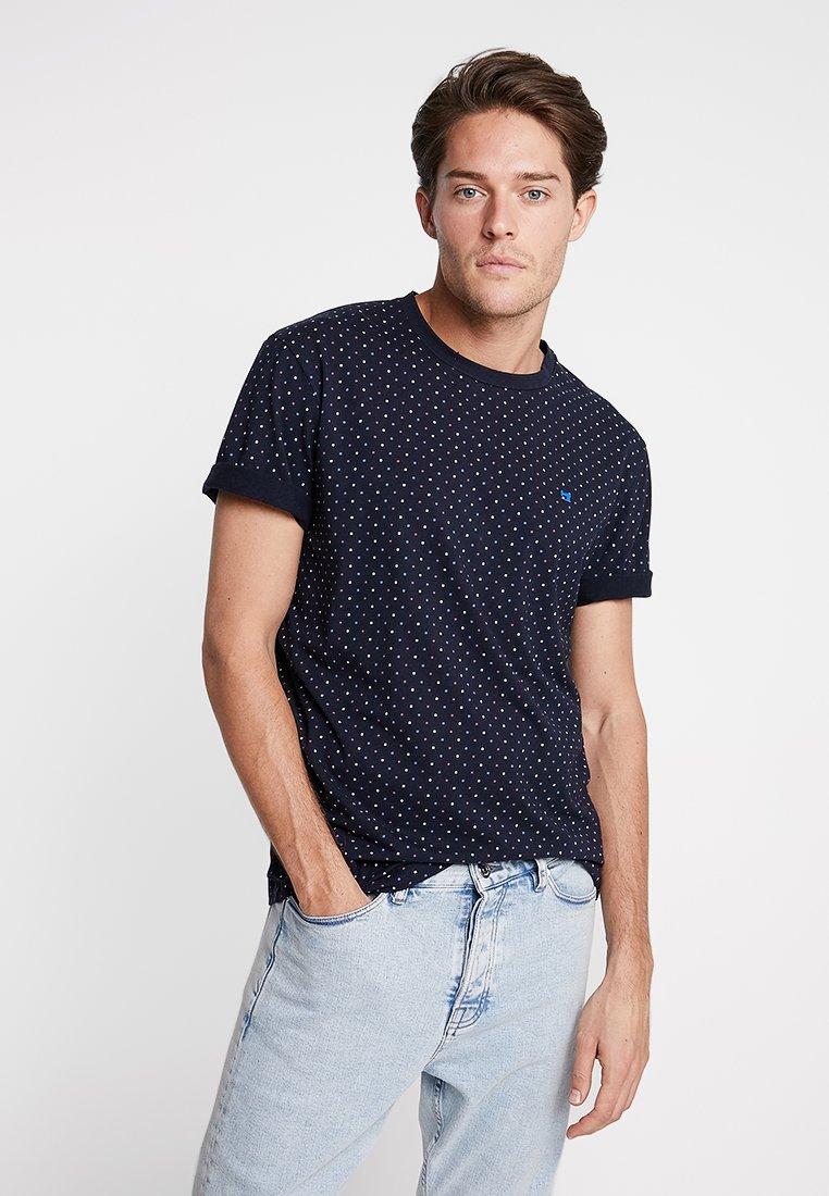 Scotch & Soda - CLASSIC CREWNECK TEE - Print T-shirt - dark blue