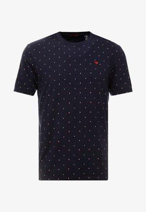 CLASSIC CREWNECK TEE - Camiseta estampada - dark blue