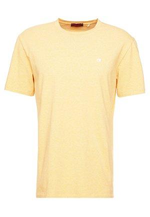 CREWNECK TEE - Basic T-shirt - straw melange