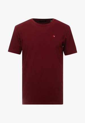 CREWNECK TEE - Camiseta básica - bordeaux