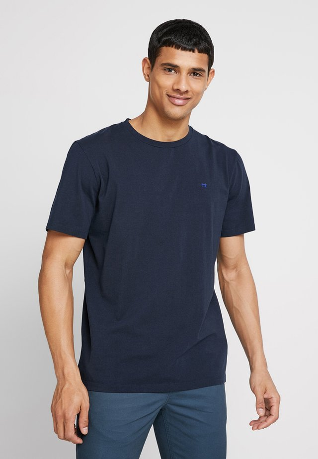 CREW NECK TEE - T-shirt basic - navy