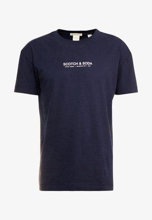 ORGANIC CREWNECK TEE  - T-Shirt print - navy