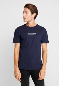 Scotch & Soda - ORGANIC CREWNECK TEE  - T-Shirt print - navy - 0