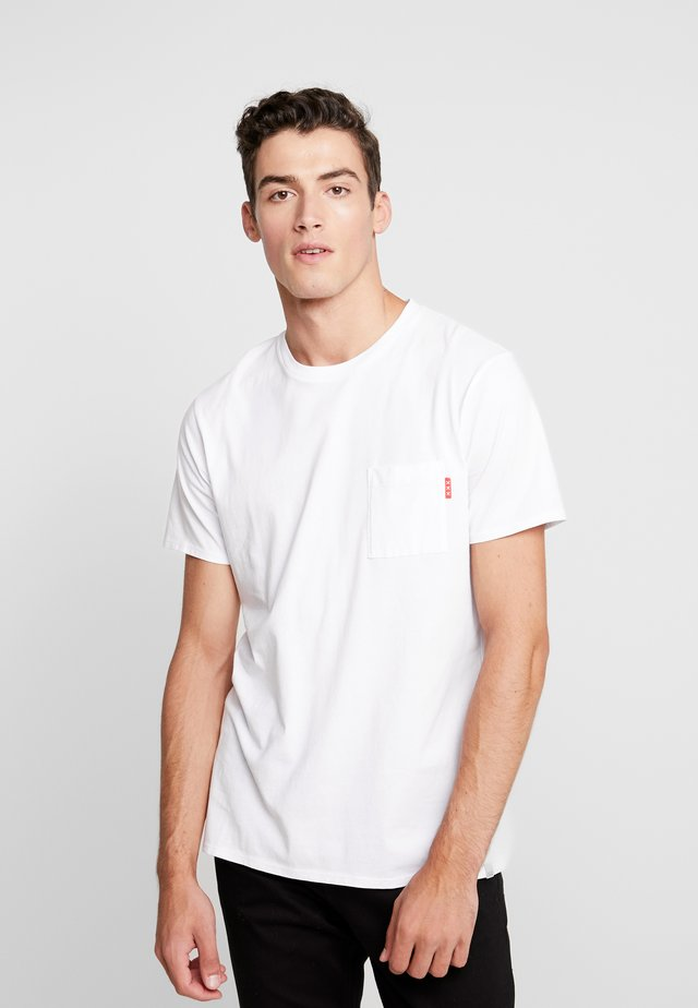 CLASSIC POCKET TEE - T-shirt basic - white