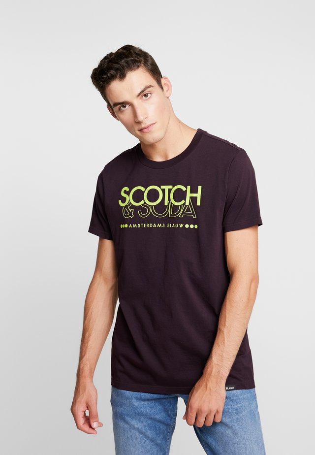 CREW NECK LOGO TEE - T-shirt print - le mauve