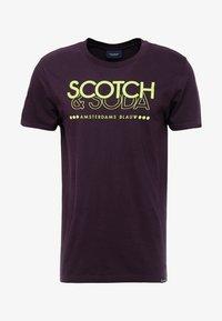 Scotch & Soda - CREW NECK LOGO TEE - Printtipaita - le mauve - 4