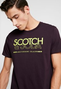 Scotch & Soda - CREW NECK LOGO TEE - Printtipaita - le mauve - 3