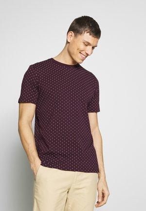 CLASSIC CREWNECK TEE - T-shirt print - bordeaux