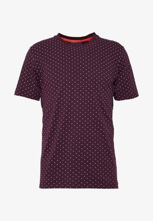 CLASSIC CREWNECK TEE - Print T-shirt - bordeaux