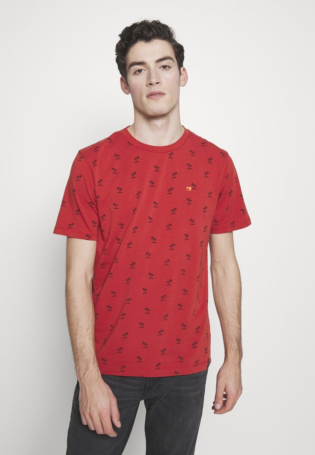 CLASSIC CREWNECK TEE - Print T-shirt - red