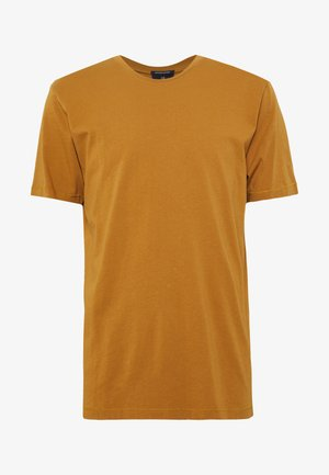 SHORT SLEEVE TEE - Jednoduché triko - tobacco