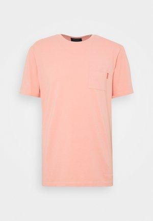 Jednoduché triko - pink smoke