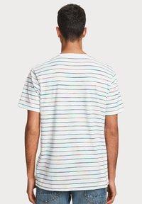 Scotch & Soda - SPACE DYE - T-shirt print - white - 1