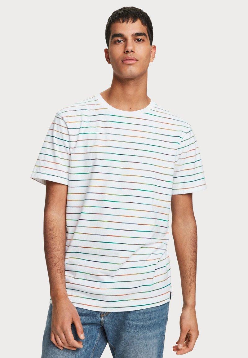 Scotch & Soda - SPACE DYE - T-shirt print - white