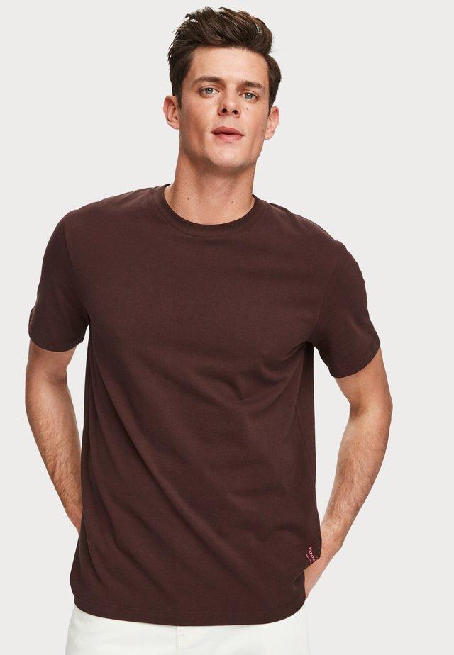 T-shirt basic - bordeaux