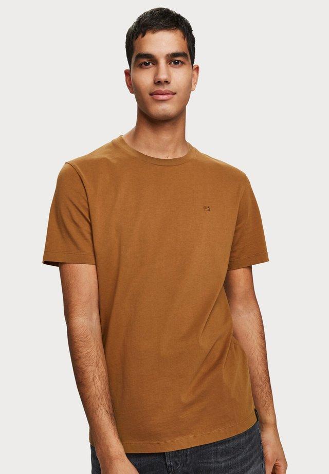 T-shirt basic - walnut