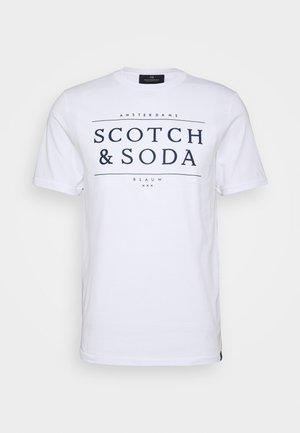 SHORT SLEEVE LOGO TEE - T-shirt print - white