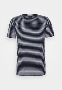 Scotch & Soda - EASY CREWNECK TEE - T-shirt print - dark blue/white - 3
