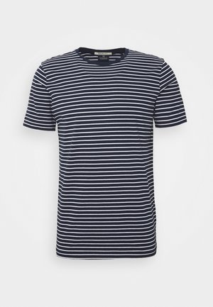 EASY CREWNECK TEE - T-shirt con stampa - dark blue/white
