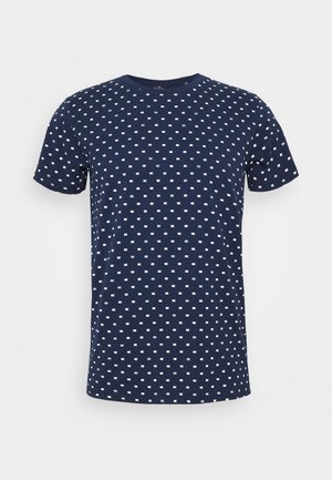 ALLOVER PRINTED TEE - Triko s potiskem - dark blue/white