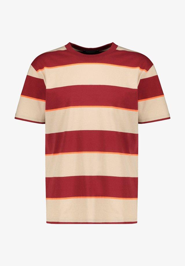 Herren T-Shirt - T-shirt imprimé - red, beige