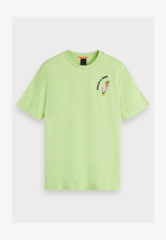 Parrot artwork - T-shirt imprimé - lemongrass