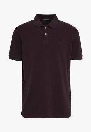 Polo shirt - bordeaubergine melange
