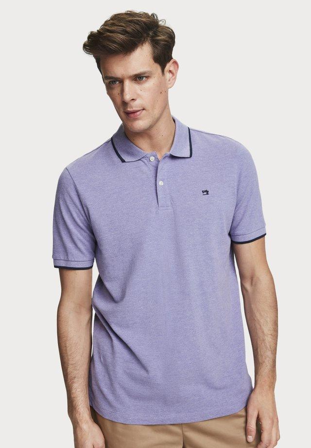 Poloshirt - electric purple melange