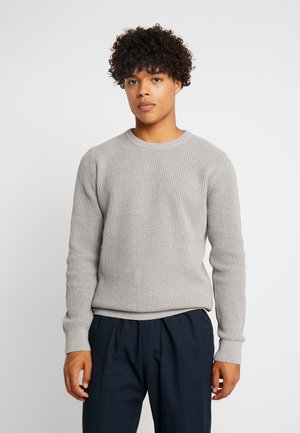 STRUCTURED CREWNECK - Maglione - grey melange