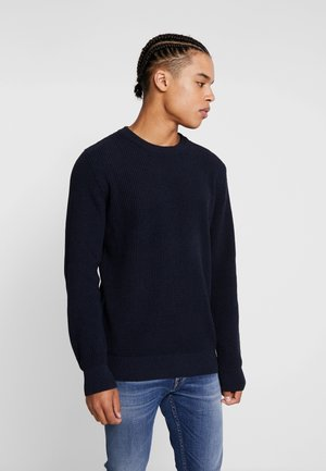 STRUCTURED CREWNECK - Pullover - night melange