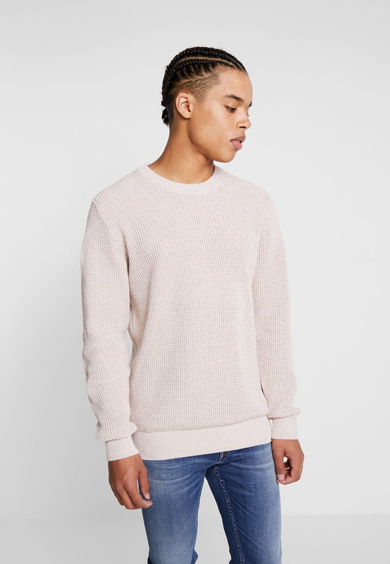 Scotch & Soda - STRUCTURED CREWNECK - Strickpullover - ecru melange
