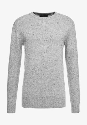 CLASSIC CREWNECK PULL WITH NEPS - Strickpullover - grey melange