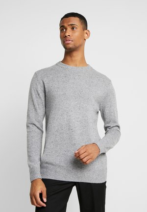 CLASSIC CREWNECK PULL WITH NEPS - Pullover - grey melange
