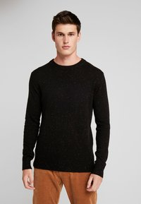 Scotch & Soda - CLASSIC CREWNECK PULL WITH NEPS - Neule - black - 0