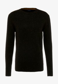 Scotch & Soda - CLASSIC CREWNECK PULL WITH NEPS - Neule - black - 4