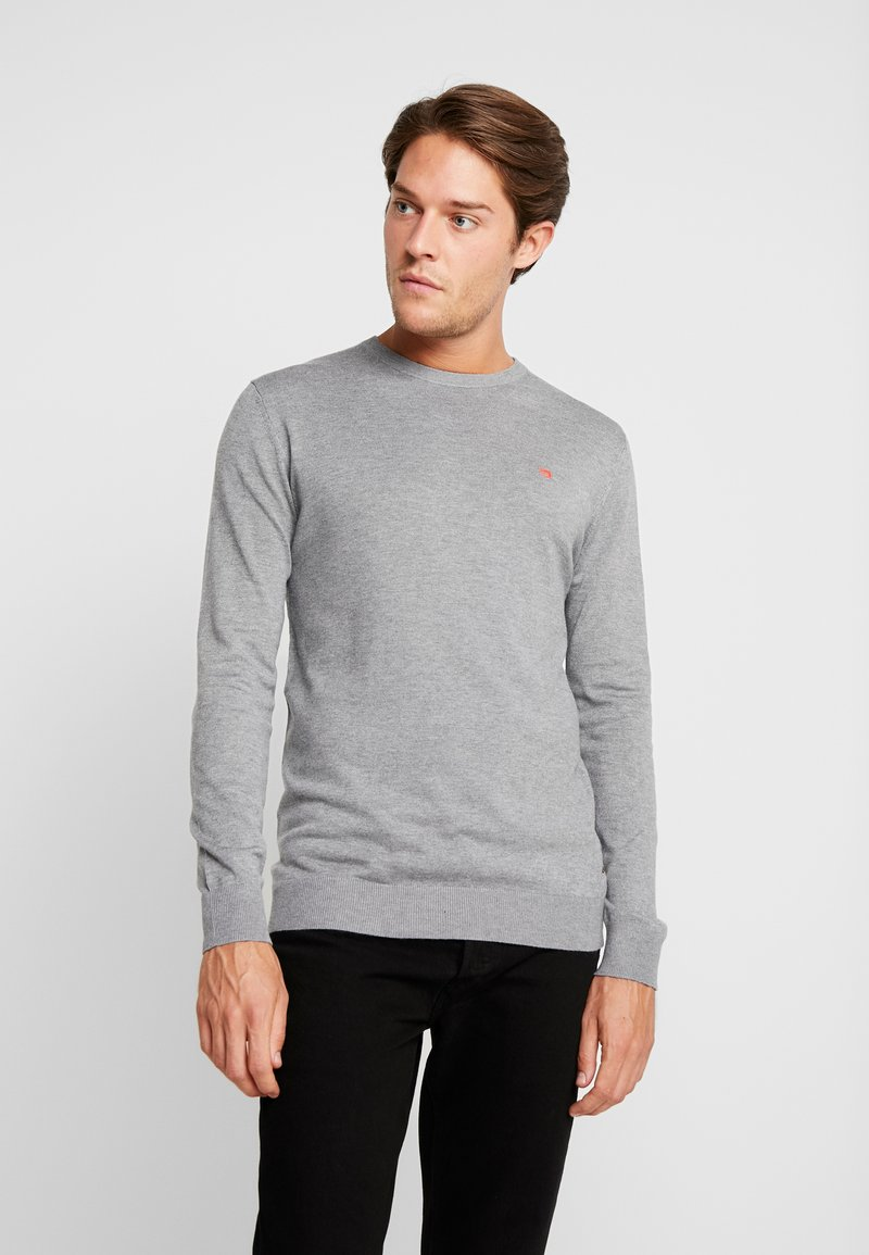 Scotch & Soda - CLASSIC CREWNECK PULL IN BLEND - Strickpullover - grey melange