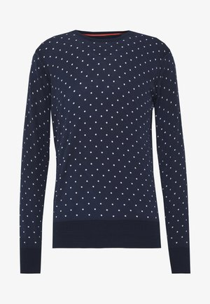 ALLOVER PRINT - Jumper - dark blue