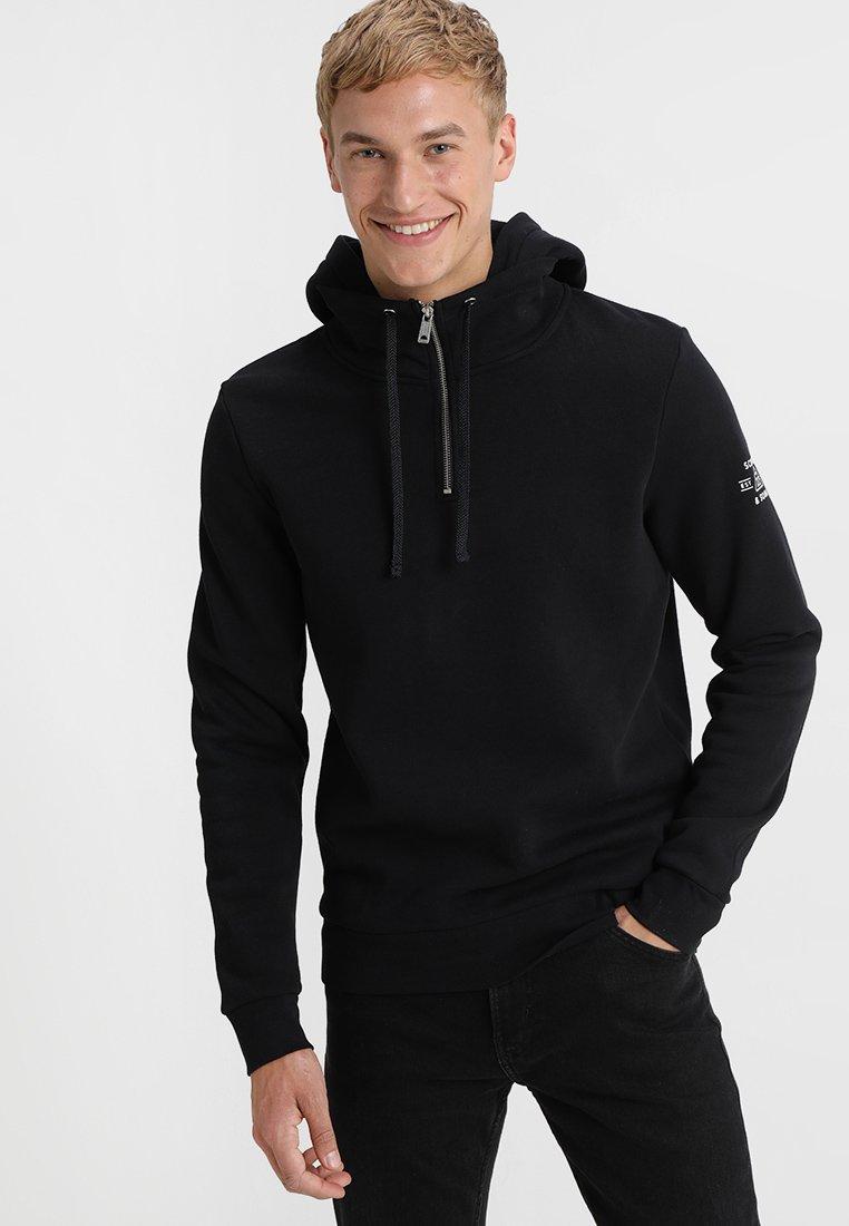 Scotch & Soda - FELPA HOODIE WITH EXTRA RIB COLLAR - Sweater - black