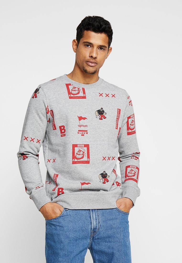 Scotch & Soda - BRUTUS CREWNECK WITH VINTAGE PRINT - Sweatshirts - combo