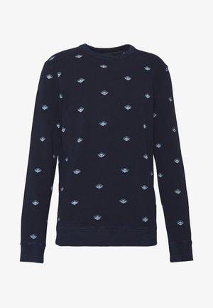 CREWNECK WITH ALLOVER PRINT - Sweater - dark blue