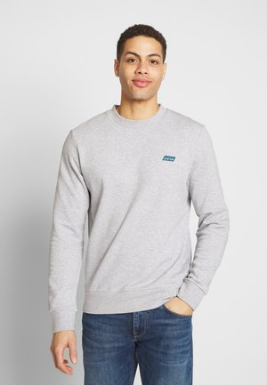 CLASSIC CREWNECK WITH CONTRAST INSIDE LOOPS - Sweater - light grey melange