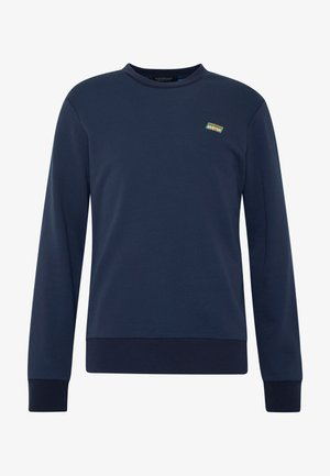 CLASSIC CREWNECK WITH CONTRAST INSIDE LOOPS - Mikina - coal