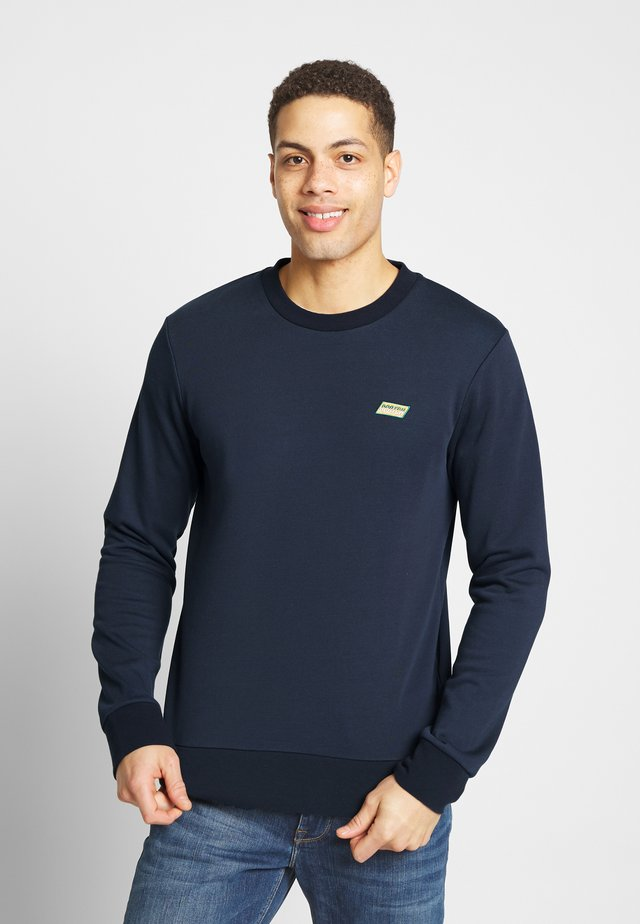 CLASSIC CREWNECK WITH CONTRAST INSIDE LOOPS - Sudadera - coal