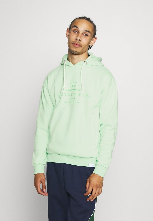 HOODED - Jersey con capucha - faded mint