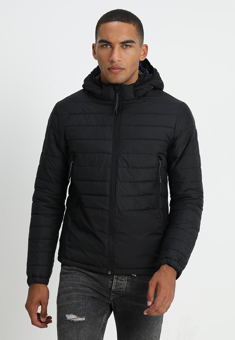 Scotch & Soda - QUILTED WITH DETACHABLE HOOD - Winterjacke - black