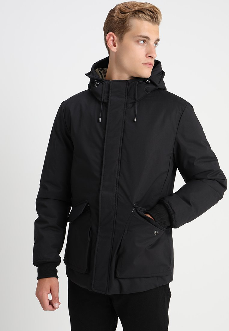 Scotch & Soda - HOODED JACKET WITH TAPE DETAIL - Winter jacket - black