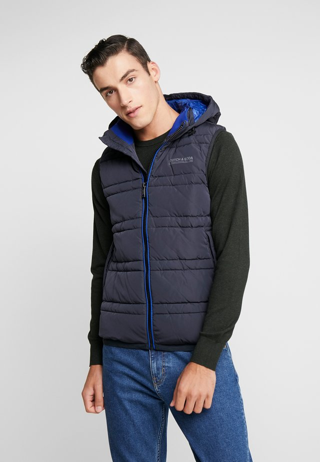 CLASSIC HOODED QUILTED BODYWARMER - Smanicato - night