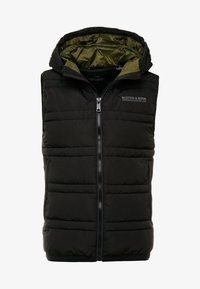 Scotch & Soda - CLASSIC HOODED QUILTED BODYWARMER - Chaleco - black - 5